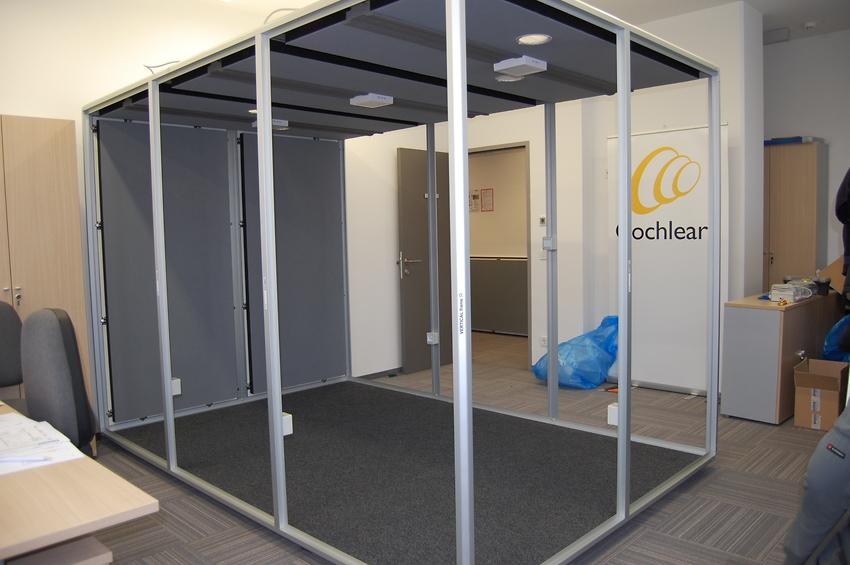 installazione di una cabina puma di grandi dimensioni in