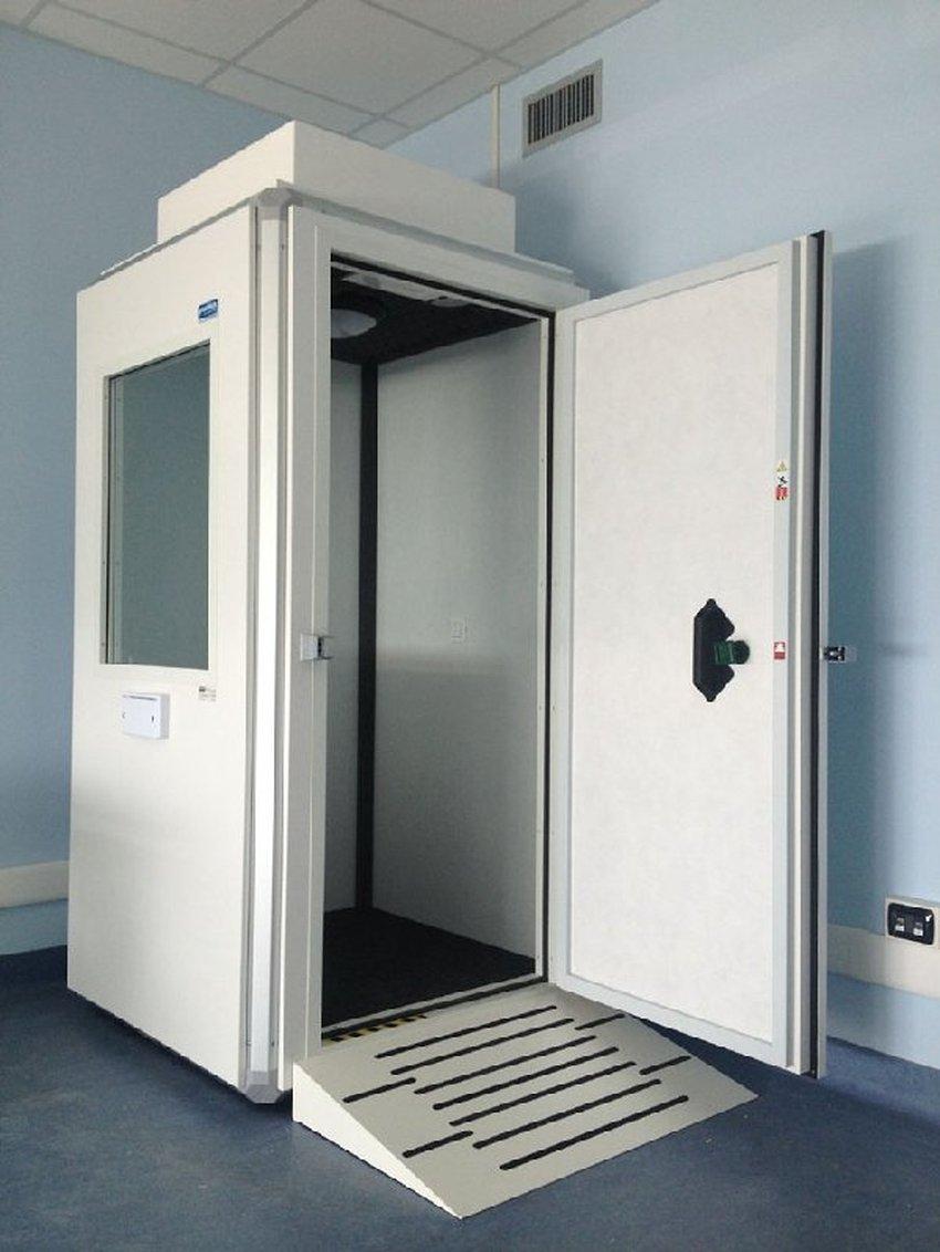 Cabina silente per reparto di audiologia