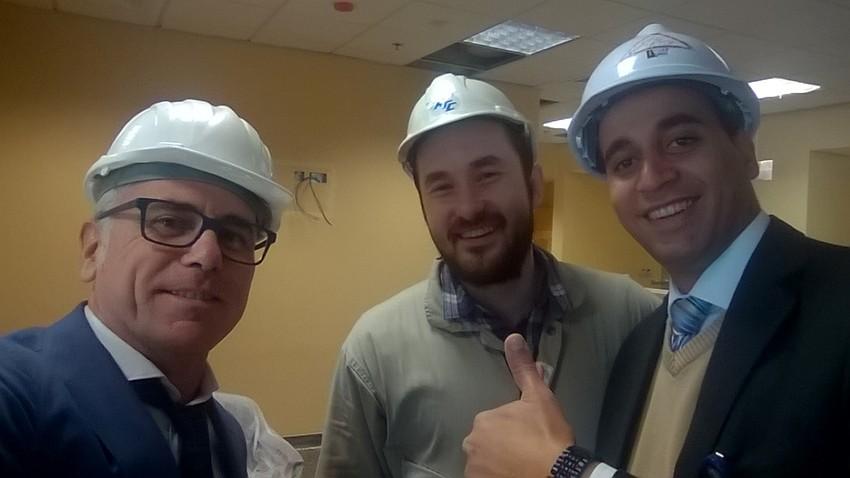 Il Team Puma durante l'installazione