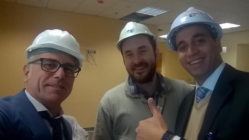 Team Puma during the installation