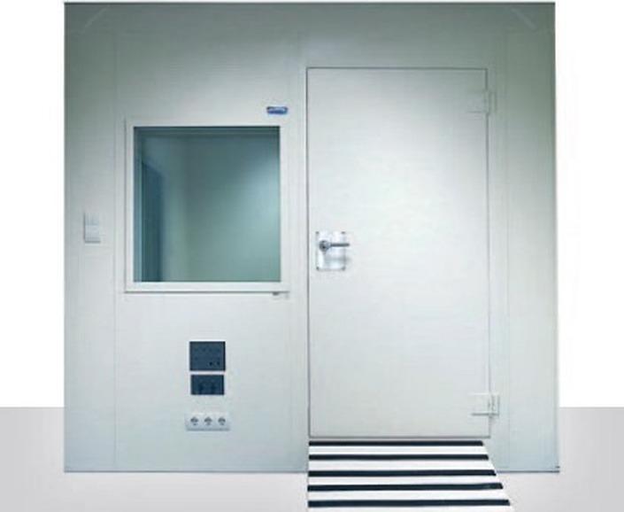 Cabina audiometrica con parete singola
