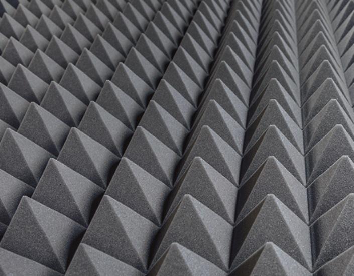 Pyramidal sound absorbing panels